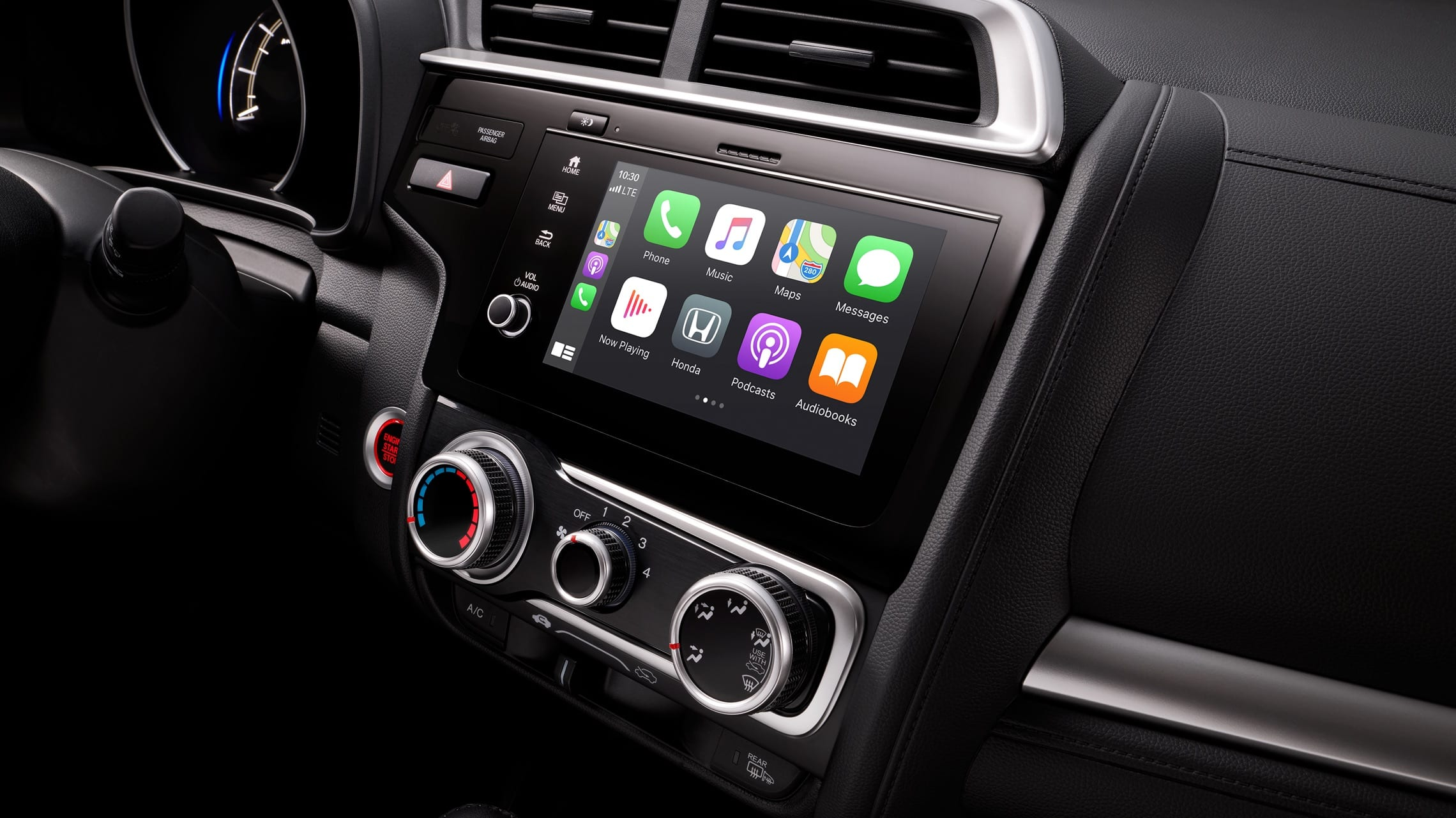 Display Audio touch-screen with Apple CarPlay™ detail on 2020 Honda Fit.